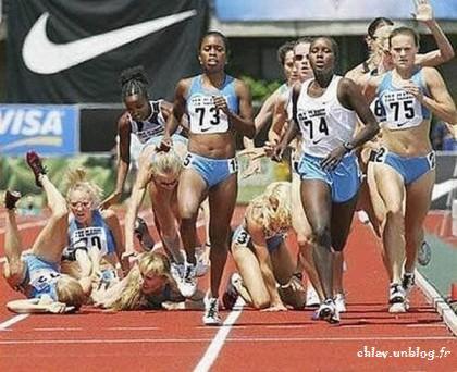 Chute athlétisme